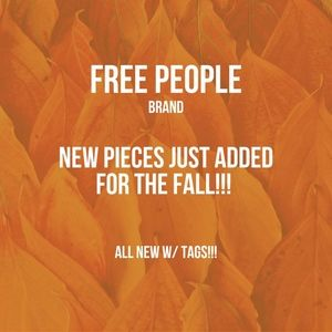 NEW FREE PEOPLE ITEMS JUST ADDED FOR FALL